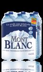 6 bouteilles d\'Eau Minérale Naturelle Mont Blanc Eau
