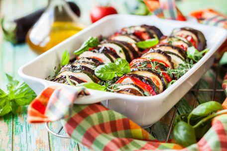 RECIPE MAIN IMAGE Tian de légumes au hachis de viande