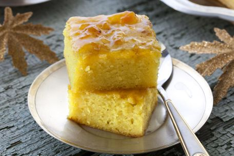 RECIPE MAIN IMAGE Pudding  à l\'abricot et à la cannelle