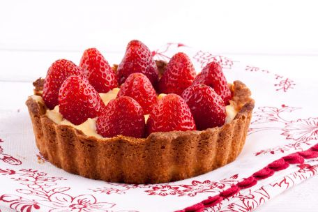 RECIPE MAIN IMAGE Tarte aux fraises et mascarpone
