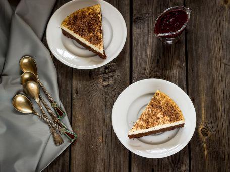 RECIPE MAIN IMAGE Cheesecake aux petits-beurre, aux poires et au chocolat