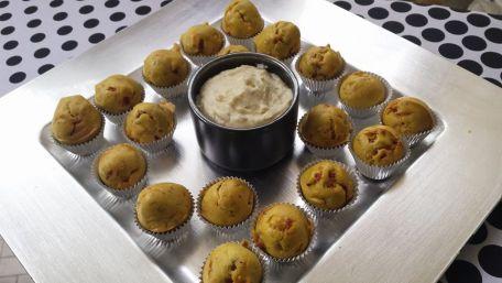 RECIPE MAIN IMAGE Bouchées au chorizo, et sauce au bleu de Bresse Suprême