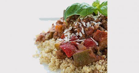 RECIPE MAIN IMAGE Quinoa bolognaise aux légumes frais