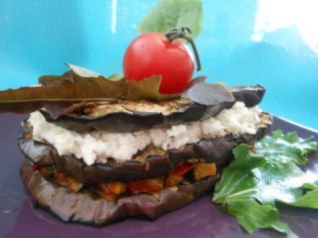 RECIPE MAIN IMAGE Mille-feuilles d\'aubergine pour Martine de Monac !!!