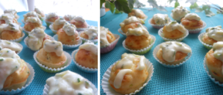 RECIPE MAIN IMAGE Petits gâteaux salés pour entrée ou apéritif...