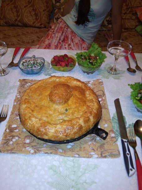 RECIPE MAIN IMAGE Gâteau oriental à la viande fait à quatre mains