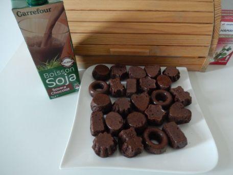 RECIPE MAIN IMAGE Mignardises au soja et chocolat