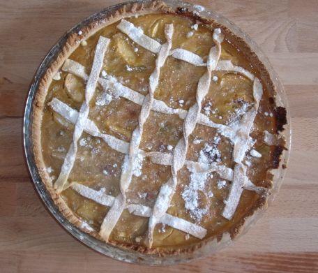 RECIPE MAIN IMAGE Tarte pommes rhubarbe