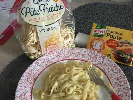 RECIPE MAIN IMAGE Assiette de pâtes sans beurre.