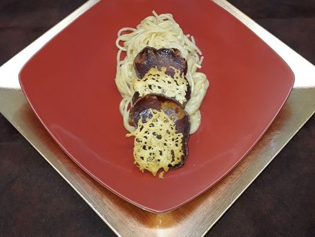RECIPE MAIN IMAGE Pâtes, coppa et gruyère