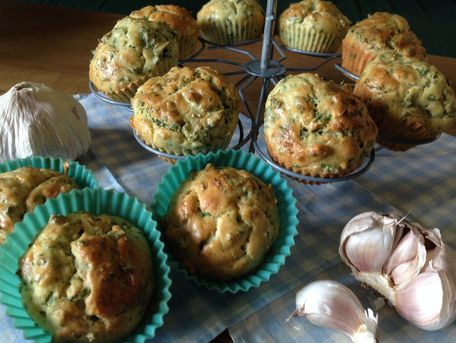 RECIPE MAIN IMAGE Muffins Ail et Persil