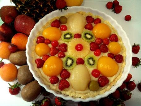 RECIPE MAIN IMAGE Tarte pâtissière aux fruits