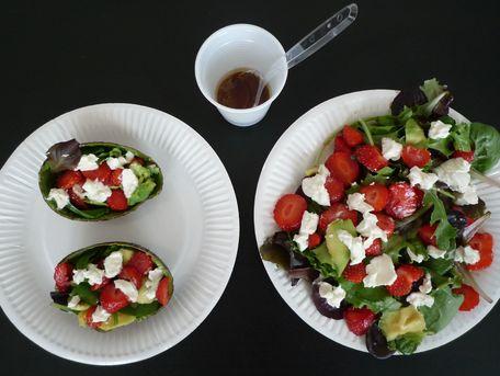 RECIPE MAIN IMAGE Salade aux fraises et à l'avocat
