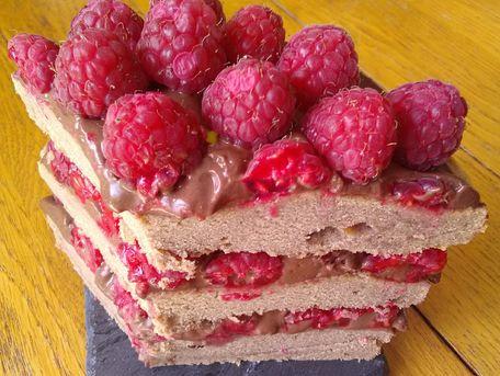 RECIPE MAIN IMAGE Gâteau chocolat framboises