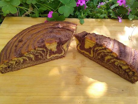 RECIPE MAIN IMAGE Gâteau zèbre au Chocolat