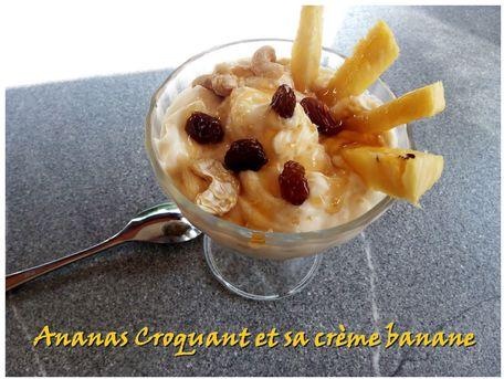 RECIPE MAIN IMAGE Ananas croquant et sa crème banane coco