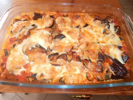 RECIPE MAIN IMAGE Gratin de légumes, riz et mozza