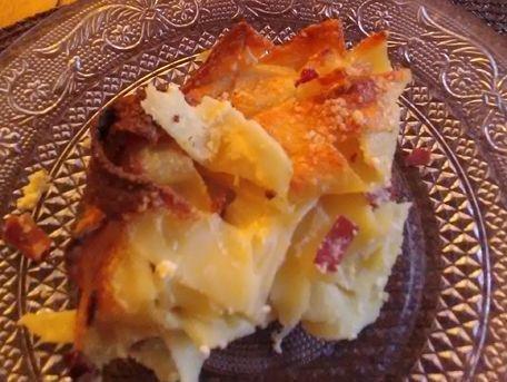 RECIPE MAIN IMAGE Gâteau de Pâtes Carbonara