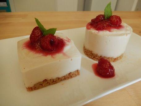 RECIPE MAIN IMAGE No cheesecake au citron et framboise