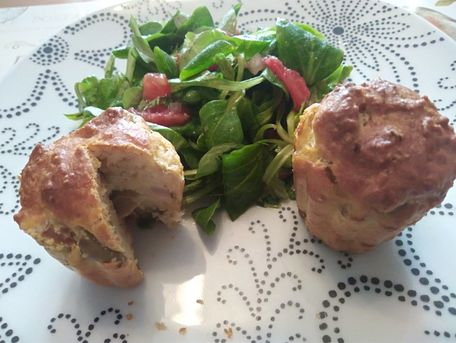 RECIPE MAIN IMAGE Muffins au thon, olives et parmesan