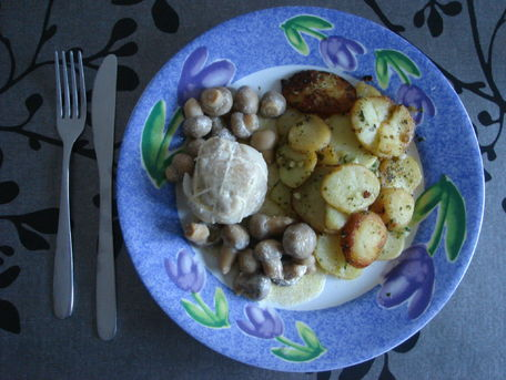 RECIPE MAIN IMAGE Paupiettes de dinde aux champignons et à la crème
