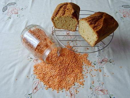RECIPE MAIN IMAGE Gâteau aux lentilles Corail