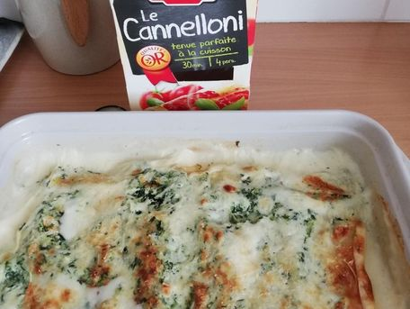 RECIPE MAIN IMAGE Cannelloni aux épinards