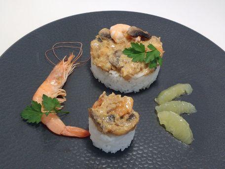 RECIPE MAIN IMAGE Riz crevettes et champignons