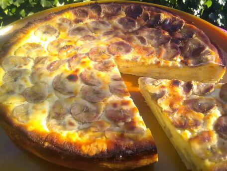 RECIPE MAIN IMAGE Tarte sablée au yaourt et à la banane