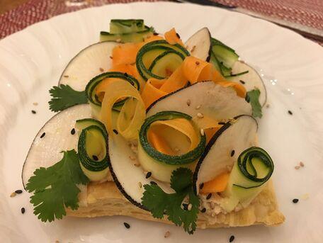 RECIPE MAIN IMAGE Tarte fine au carpaccio de légumes