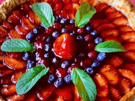RECIPE MAIN IMAGE Tarte aux trois fruits