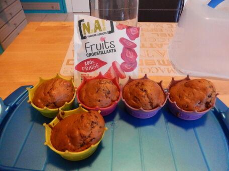 RECIPE MAIN IMAGE Muffins fraise et chocolat