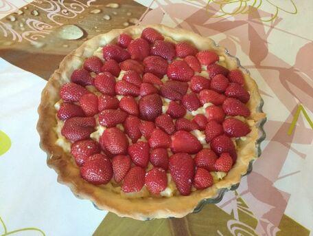 RECIPE MAIN IMAGE Tarte fraise : pâte sablée avec crème