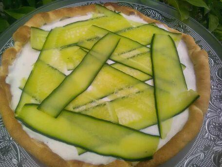 RECIPE MAIN IMAGE Tarte tzatziki au concombre
