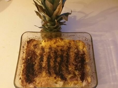 RECIPE MAIN IMAGE Crumble pommes-ananas