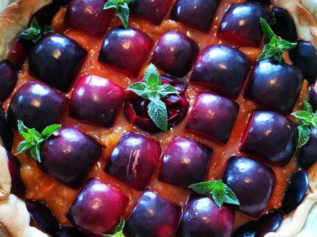 RECIPE MAIN IMAGE Tarte aux prunes à ma façon