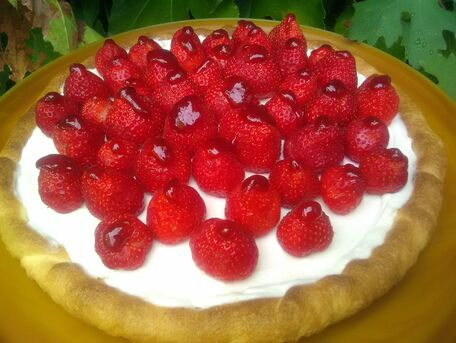 RECIPE MAIN IMAGE Tarte ricotta et marcarpone aux fraises