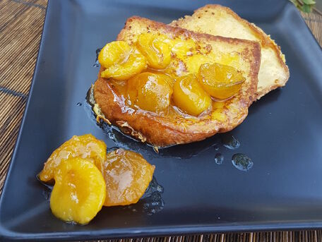 RECIPE MAIN IMAGE Pain perdu mirabelles