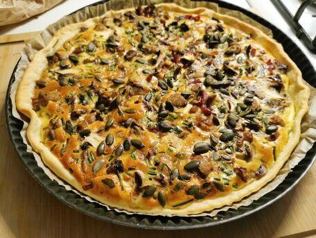 RECIPE MAIN IMAGE Quiche champignon/courgette