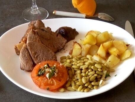 RECIPE MAIN IMAGE Gigot d'agneau et ses pommes boulangères