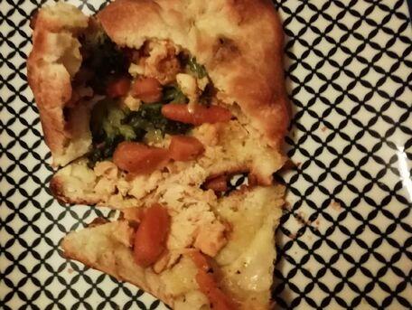 RECIPE MAIN IMAGE Chaussons fourrés aux carottes et petits légumes