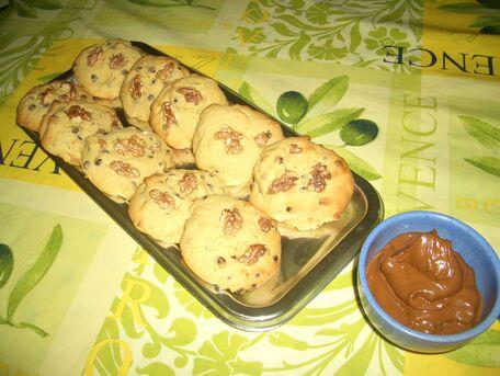 RECIPE MAIN IMAGE Cookies aux pépites de chocolat / noix
