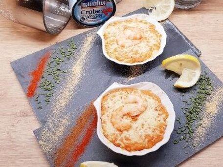 RECIPE MAIN IMAGE Gratiné de crabe sauce aurore