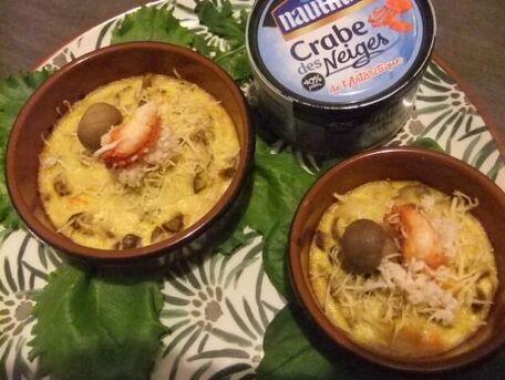 RECIPE MAIN IMAGE Gratin crabe champignon