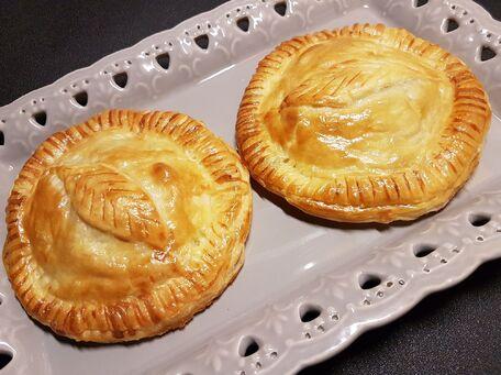 RECIPE MAIN IMAGE Feuilletés aux pommes et foie gras