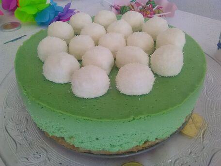 RECIPE MAIN IMAGE Cheesecake noix de coco, spéculos et chamallows