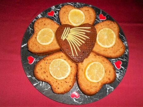 RECIPE MAIN IMAGE Coeurs ardents citron gingembre