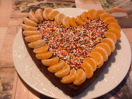 RECIPE MAIN IMAGE Cœur de chocolat et sa ribambelle de clémentines