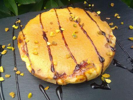 RECIPE MAIN IMAGE Tarte ananas, crème pâtissière et génoise