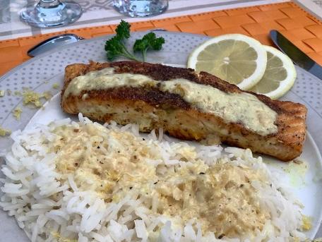 RECIPE MAIN IMAGE Pavés de saumon au curry